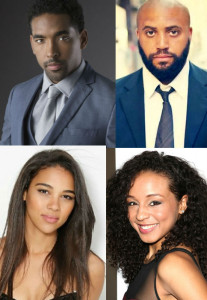 Straight Outta Compton Marlon Yates Jr., R. Marcus Taylor, Carra Patterson, and Alexandra Shipp
