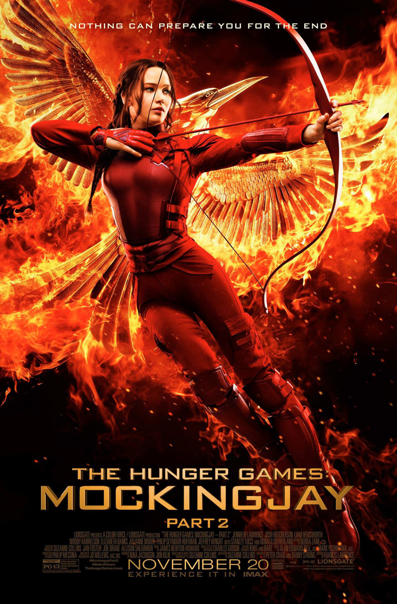 The Hunger Games: Mockingay part 2.