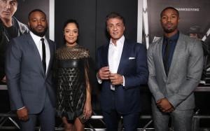 Creed Premiere - Ryan Coogler, Tessa Thompson, Sylvester Stallone and Michael B. Jordan
