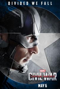 Team Cap Character Poster Captain America