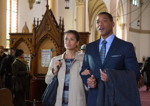 Gugu Mbatha-Raw and Will Smith in Concussion
