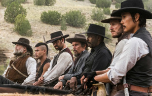 The Magnificent Seven - Vincent D'Onofrio, Martin Sensmeier, Manuel Garcia-Rulfo, Ethan Hawke, Denzel Washington, Chris Pratt and Byung-hun Lee