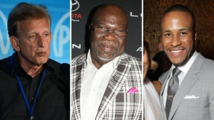 Joe Roth, T.D. Jakes and DeVon Franklin