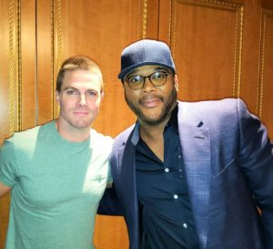 Tyler Perry and Stephen Amell