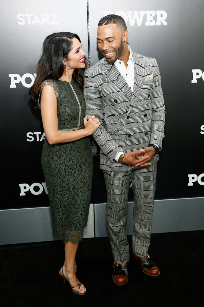 Rumored boyfriend and girlfriend and co-stars of Power: Omari Hardwick and Lela Loren