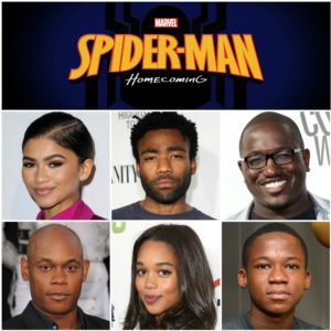 Spider-Man Homecoming Black cast