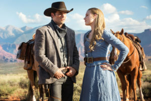 Westworld - James Marsden and Evan Rachel Wood