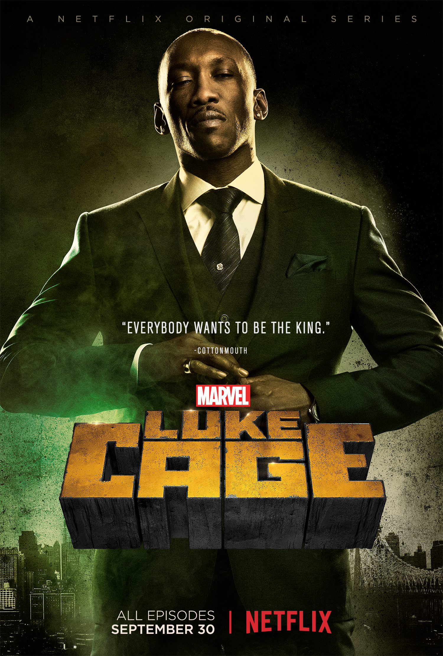 luke cage character posters for cottonmouth shades and
