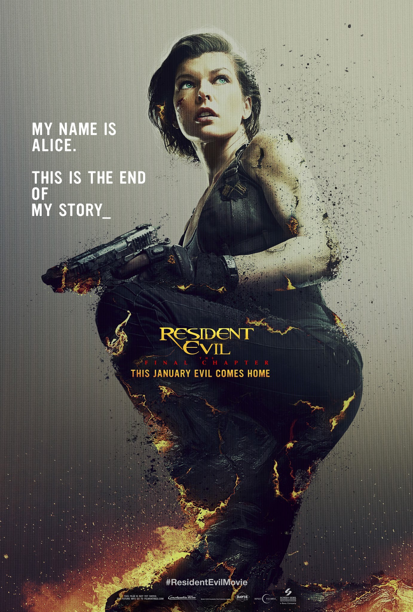 New Poster To Resident Evil The Final Chapter Blackfilm Com