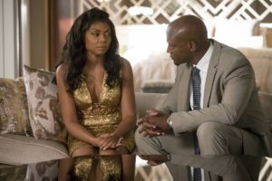 "EMPIRE: Pictured L-R: Taraji P. Henson and guest star Taye Diggs in the ""Chimes at Midnight"" episode of EMPIRE airing Wednesday, Nov. 9 (9:00-10:00 PM ET/PT) on FOX. ©2016 Fox Broadcasting Co. CR: Chuck Hodes/FOX"