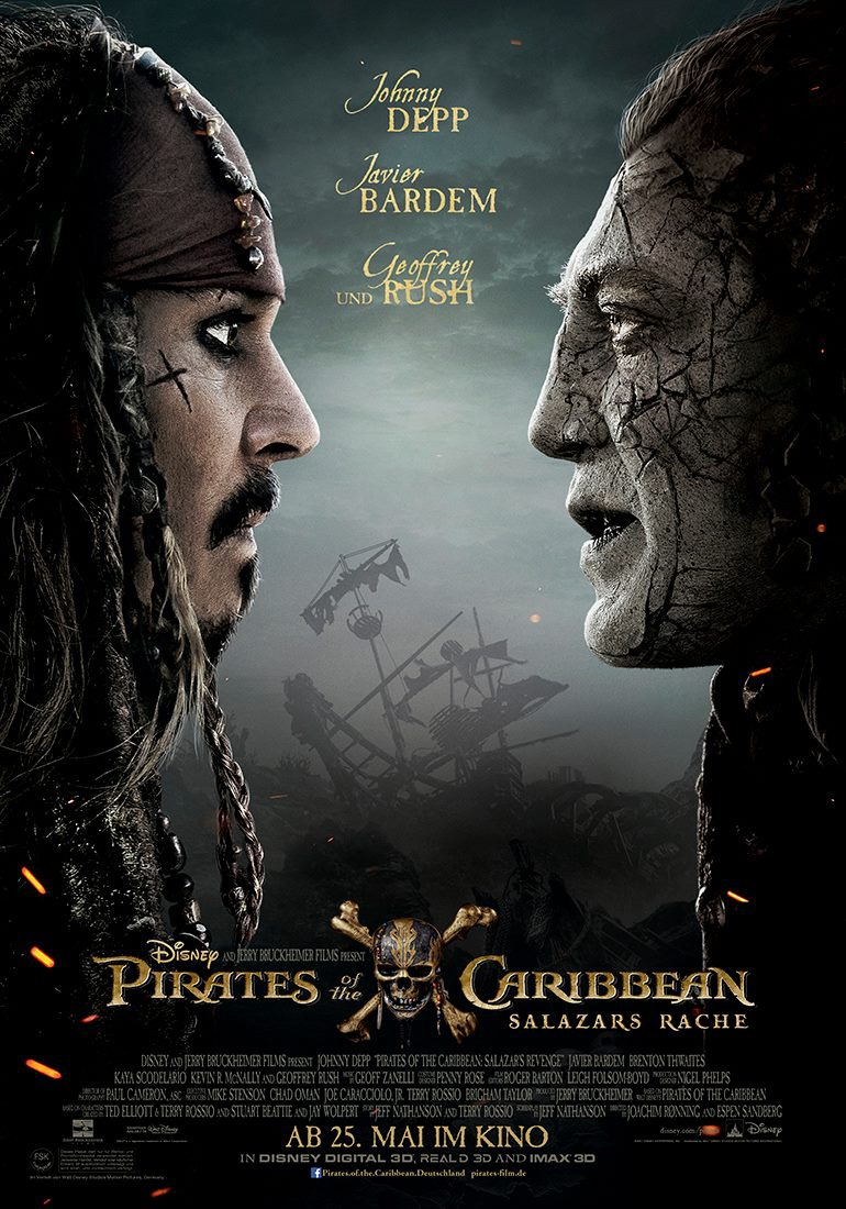 new international poster for pirates of the caribbean
