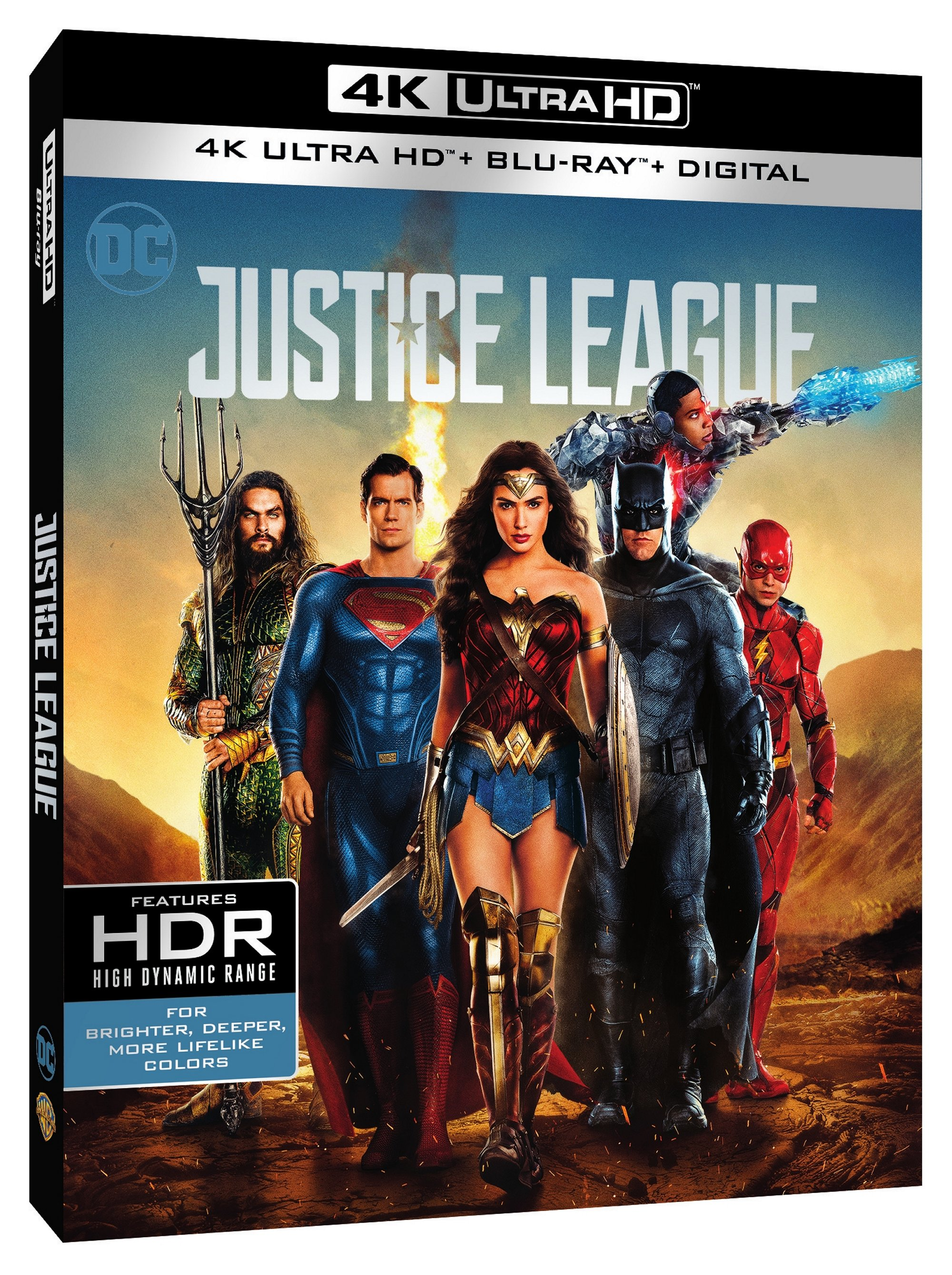Justice League Digital & 4K, Blu-ray, DVD Release Dates Announced