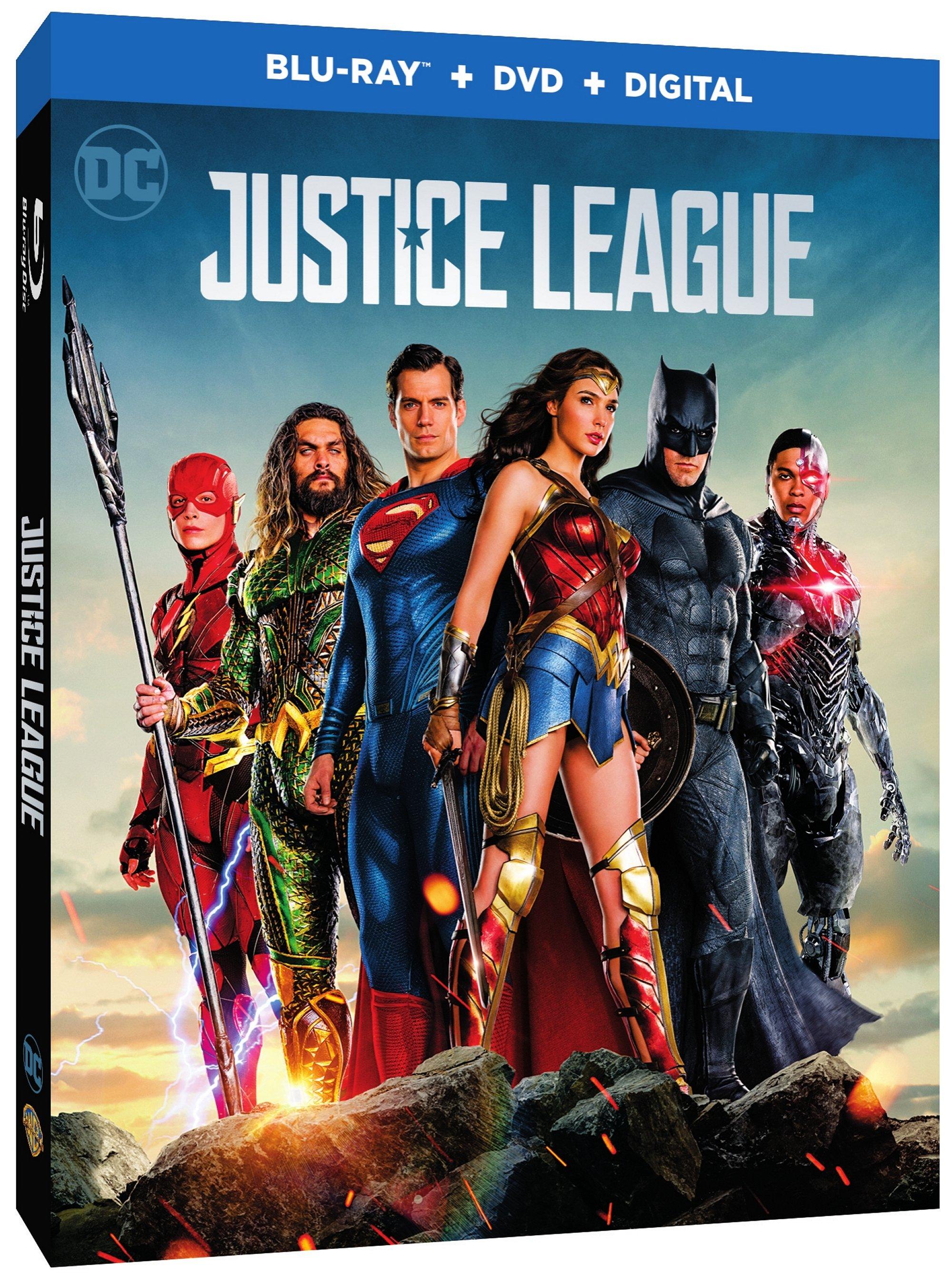 Justice League Digital & 4K, Blu-ray, DVD Release Dates Announced