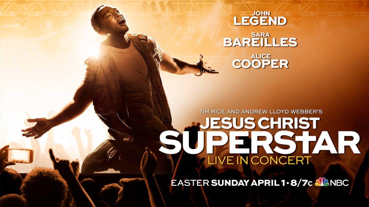 ... April 1, will be Andrew Lloyd Webber's rock musical Jesus Christ  Superstar Live In Concert, with Grammy, Oscar and Tony Award winner John  Legend cast in ...