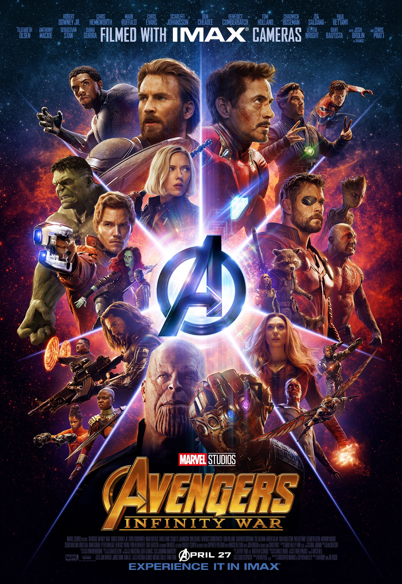 new tv spot & clip for avengers: infinity war - blackfilm/read