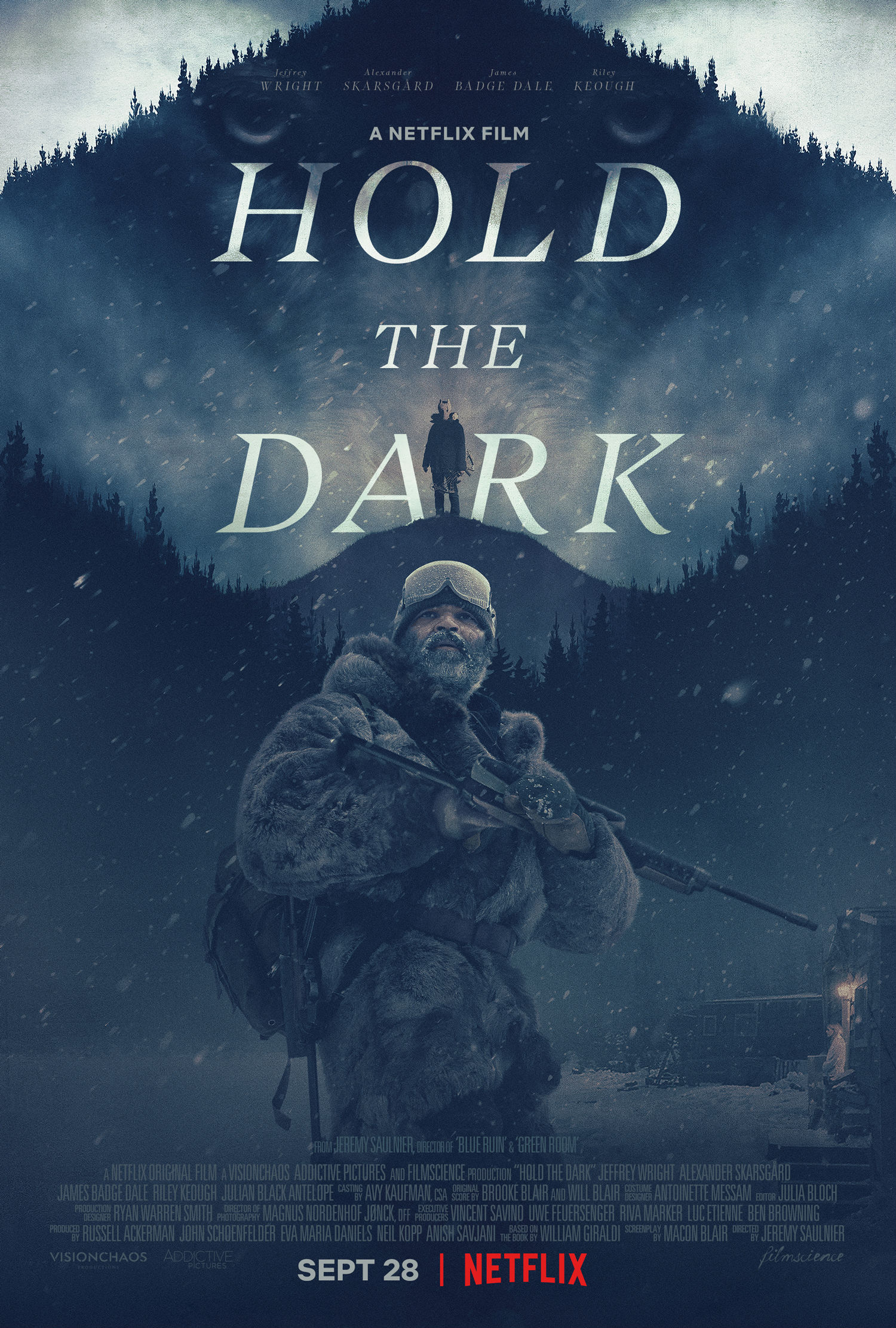 Poster To Netflix's Psychological Thriller Hold The Dark, Starring