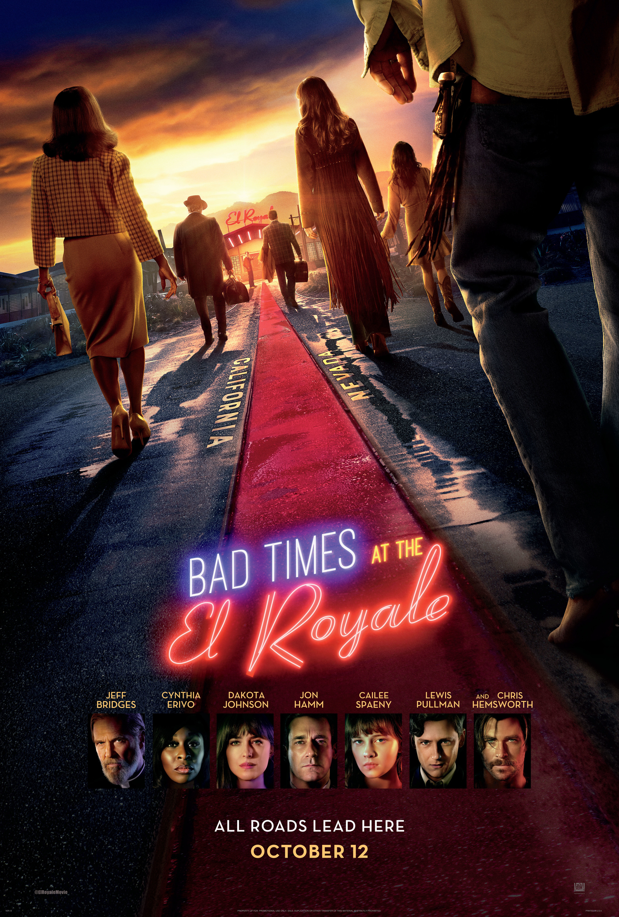 Bikini Royale Trailer new poster & trailer for bad times at the el royale
