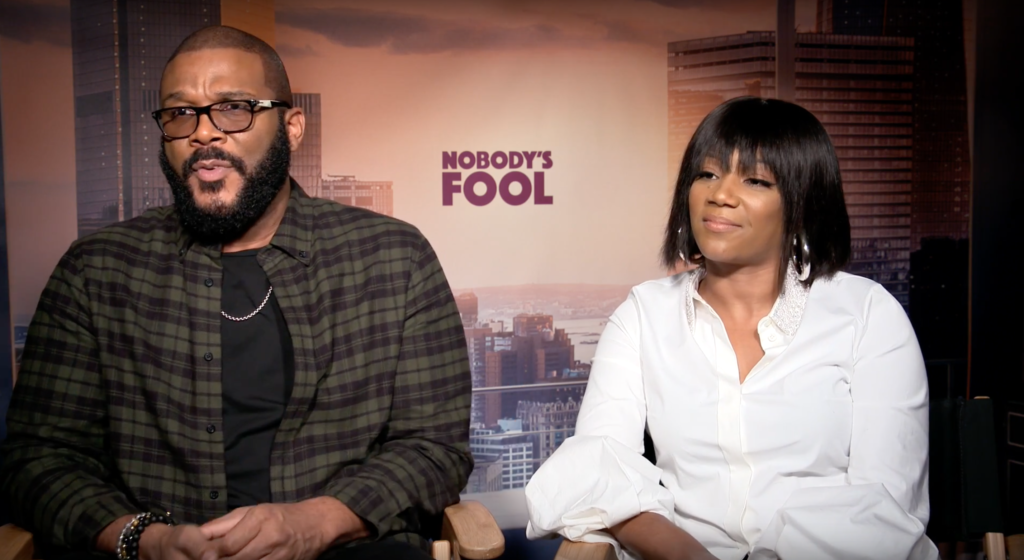 Tyler Perry and Tiffany Haddish Talk Nobodys Fool with Blackfilm.com Wilson Morales